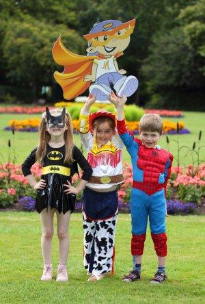 Kids in Superhero Costumes, Arthritis Ireland Photocall.