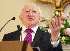 Michael D Higgins President of Ireland.