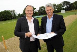 Warren Deutrom and david Richardson, Cricket Ireland PR.