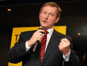 Enda Kenny Speaking at Fine Gael Party Rally.