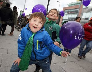 Luas on St.Patrick's Day.