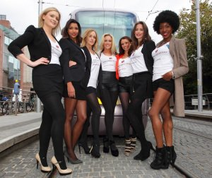 Dress for Success Models with Luas Tram.