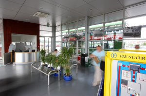 Interior of Blackash Park and Ride, professional photograph.