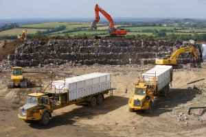 Landfill Site in Ireland in operation.