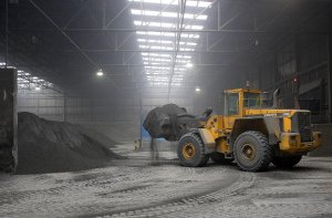Industrial Photography of Digger at work.