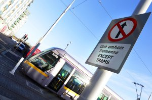 Luas Safety Signage Photo.