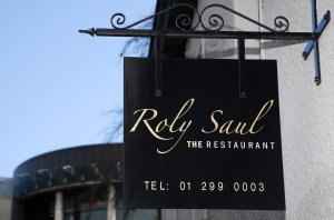 Exterior Sign on Roly Saul Restaurant Dundrum.