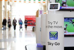 SKY Digital In- Store Stand in Shopping Centre.