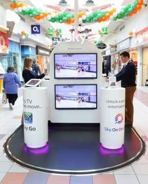 Sky Digital In-Store Stand.