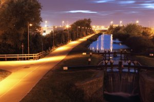 Lighting on Canal Bank, Citywest Dublin.